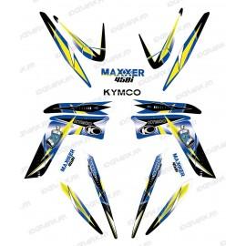 Kit décoration Geometric Bleu - IDgrafix - Kymco 450 Maxxer