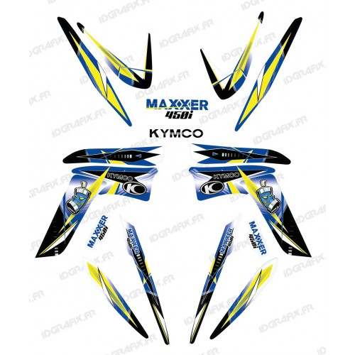 Kit de decoració Geomètrica Blau - IDgrafix - Kymco 450 Maxxer