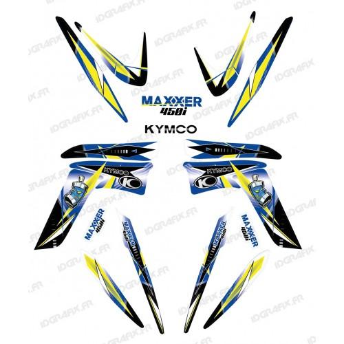 Kit decorazione Geometrica Blu - IDgrafix - Kymco Maxxer 450 -idgrafix