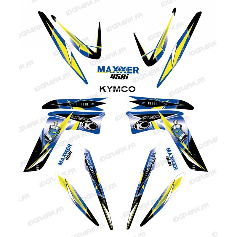 Kit decoration, Geometric Blue - IDgrafix - Kymco 450 Maxxer-idgrafix