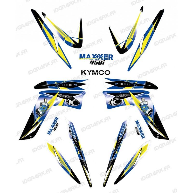 Kit dekor Geometric Blau - IDgrafix - Kymco 450 Maxxer