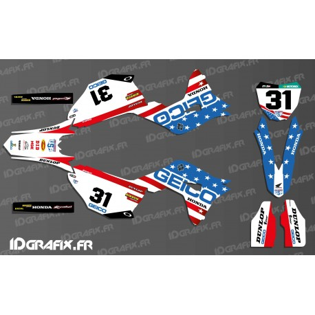 Kit décoration Geico Team USA Réplica - Honda CR/CRF 125-250-450-idgrafix