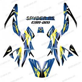 Kit de decoración Geométrica, Azul - IDgrafix - Can Am Spyder RS