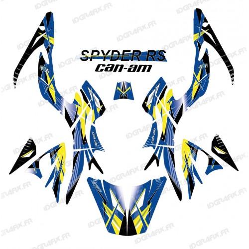 photo du kit décoration - Kit décoration Geometric Bleu - IDgrafix - Can Am Spyder RS