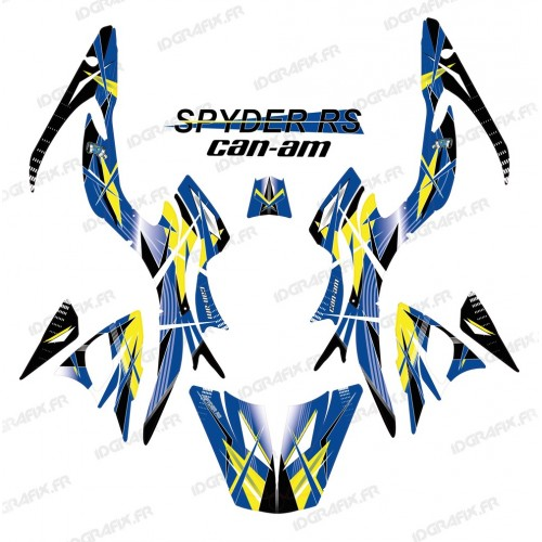 Kit decoration, Geometric Blue - IDgrafix - Can Am Spyder RS