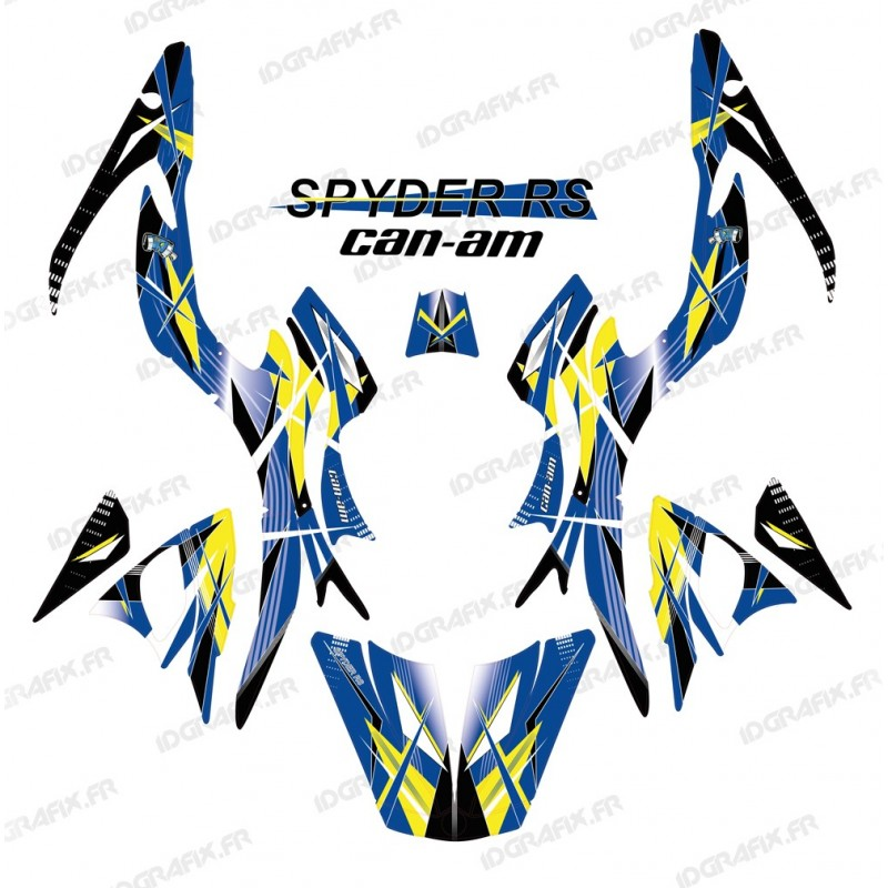 Kit decoration, Geometric Blue - IDgrafix - Can Am Spyder RS-idgrafix