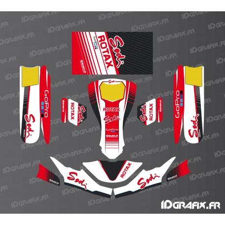 Kit déco Factory Edition Sodi Racing (Blanc/Rouge) pour Karting SodiKart-idgrafix