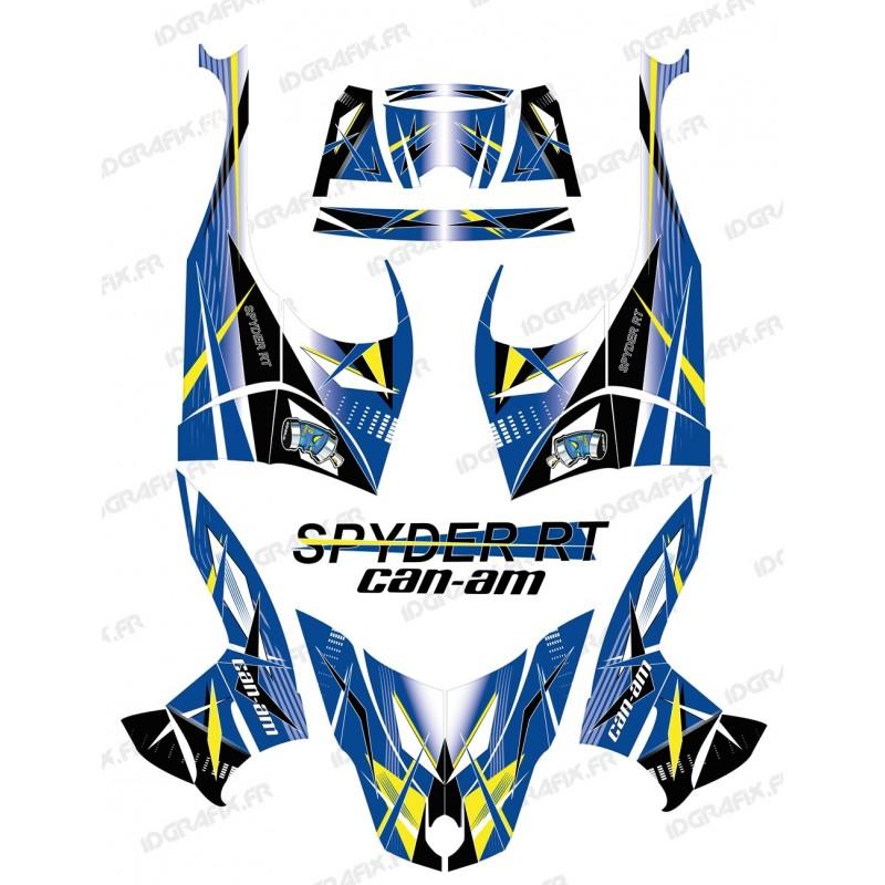 Kit décoration Geometric Bleu - IDgrafix - Can Am Spyder RT