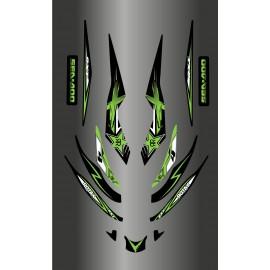 Kit de decoración de Rockstar Verde para Seadoo RXT 215-255 -idgrafix
