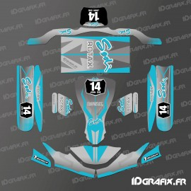 Kit déco Race Edition (Blue) for go-Karting SodiKart-idgrafix