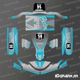 Kit de decoracion de la Carrera de Edición (Azul) para go-Karting SodiKart -idgrafix