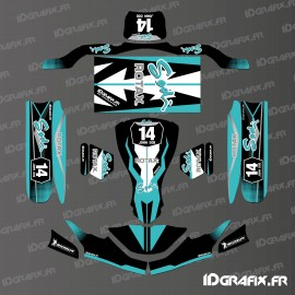 Kit déco Race Edition (Black) for go-Karting SodiKart-idgrafix