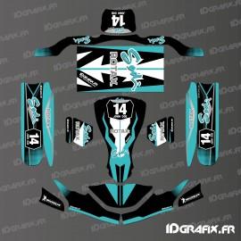 Kit de decoracion de la Carrera de Edición (Negro) para la go-Karting SodiKart -idgrafix