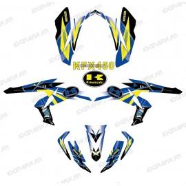 Kit decoration, Geometric Blue - IDgrafix - Kawasaki KFX 450R