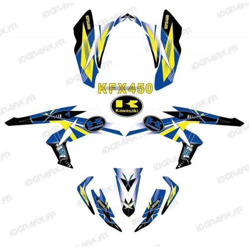 Kit décoration Geometric Bleu - IDgrafix - Kawasaki KFX 450R