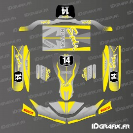 Kit de decoracion de la Carrera de Edición (Amarillo) para go-Karting SodiKart -idgrafix
