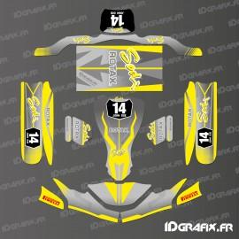 Kit-deco-Race Edition (Gelb) für Kart SodiKart-idgrafix