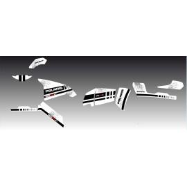 Kit de decoración Blanco de la Serie - IDgrafix - Polaris 800 Deportista -idgrafix