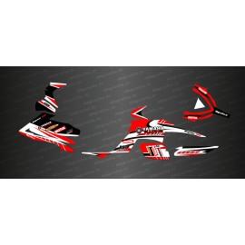 Kit de decoración de la Carrera de Edición (Rojo) - IDgrafix - Yamaha Raptor 700