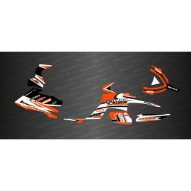 Kit de decoración de la Carrera de Edición (Naranja) - IDgrafix - Yamaha Raptor 700