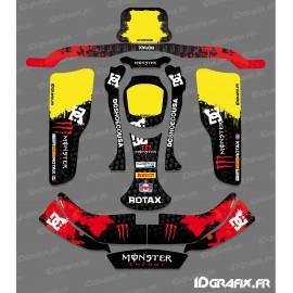Kit deco 100 % Custom Monster (Red) for Karting CRG Rotax 125 - IDgrafix