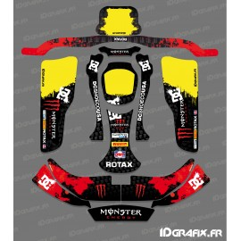 Kit deco 100 % Personalizado Monstruo (en Rojo) para el Karting CRG Rotax 125 -idgrafix