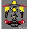 Kit-deco-100 % Custom Monster (Rot), Kart CRG Rotax 125