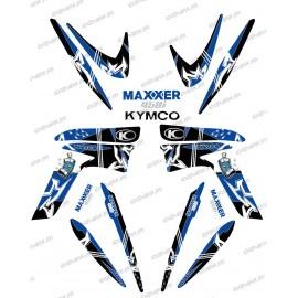 Kit décoration Street Bleu - IDgrafix - Kymco 450 Maxxer