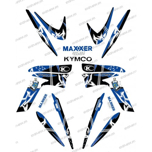 Kit decoration Street Blue - IDgrafix - Kymco 450 Maxxer