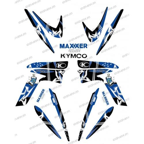 Kit decorazione Street Blu - IDgrafix - Kymco Maxxer 450 -idgrafix