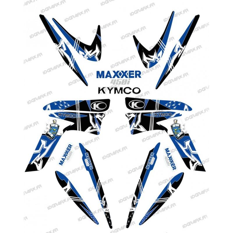 Kit décoration Street Bleu - IDgrafix - Kymco 450 Maxxer - Idgrafix