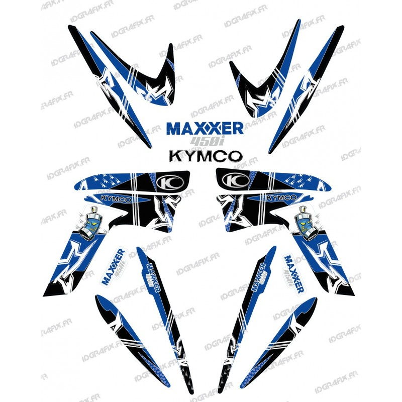 Kit decoration Street Blue - IDgrafix - Kymco 450 Maxxer-idgrafix