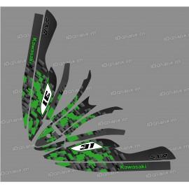 Kit décoration Digital Edition (Vert) pour Kawasaki SXR 800-idgrafix