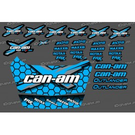 Kit stickers Can Am Outlander + Safety deposit box (Blue) - IDgrafix