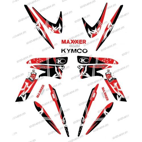 Kit de decoración de la Calle Rojo - IDgrafix - Kymco 450 Maxxer