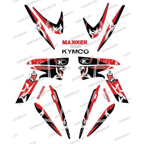 Kit decorazione Street Rosso - IDgrafix - Kymco Maxxer 450 -idgrafix
