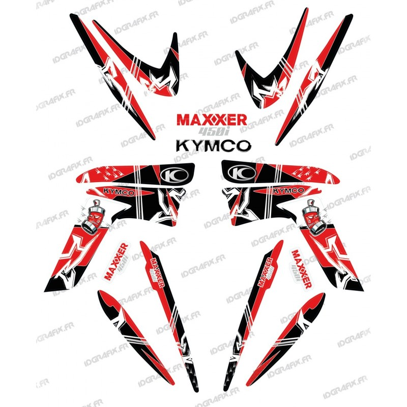 Kit decorazione Street Rosso - IDgrafix - Kymco Maxxer 450
