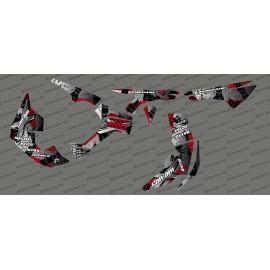 Kit de decoración de Cepillo de la Serie Completa (Gris/Rojo)- IDgrafix - Can Am Renegade -idgrafix