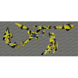 Kit décoration Brush Series Full (Jaune/Bleu)- IDgrafix - Can Am Renegade-idgrafix