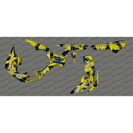 Kit decoration Brush Series Full (Yellow/Blue)- IDgrafix - Can Am Renegade - IDgrafix