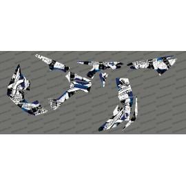 Kit decoration Brush Series Full (White/Blue)- IDgrafix - Can Am Renegade
