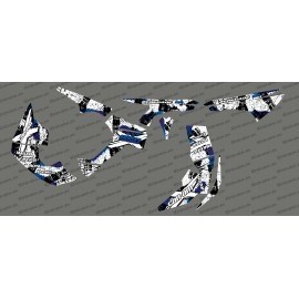 Kit décoration Brush Series Full (Blanc/Bleu)- IDgrafix - Can Am Renegade-idgrafix