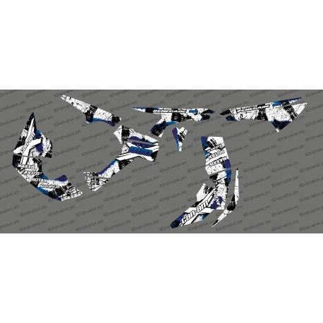 Kit decoration Brush Series Full (White/Blue)- IDgrafix - Can Am Renegade-idgrafix