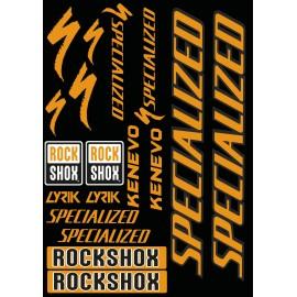 Brett Sticker 21x30cm (Rot/Orange) - Specialized / Lyrik-idgrafix