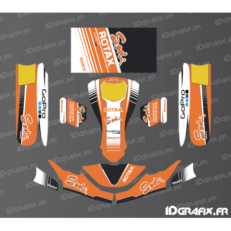 Kit déco Race Edition (Orange) pour Karting SodiKart-idgrafix