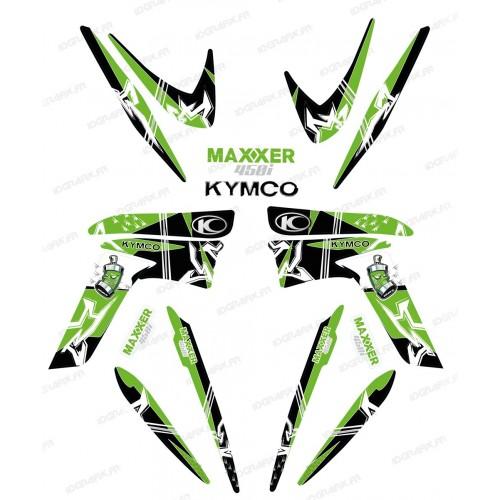Kit dekor Street Grün - IDgrafix - Kymco 450 Maxxer