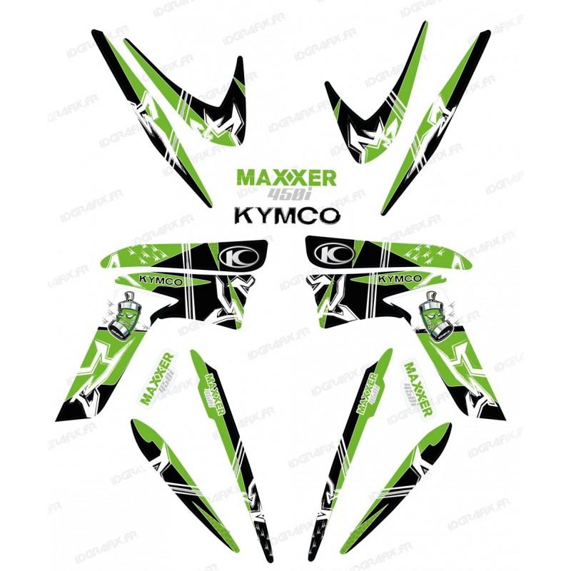 Kit décoration Street Vert - IDgrafix - Kymco 450 Maxxer - Idgrafix