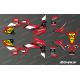 Kit décoration 60eme Yamaha Full (Rouge) - IDgrafix - Yamaha YFZ 450 / YFZ 450R-idgrafix