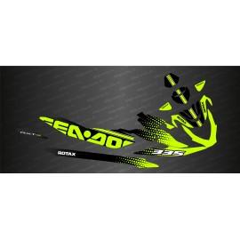 Kit de decoración de HexaSpeed Edición (Verde-Amarillo) - Seadoo RXT-X 300 -idgrafix