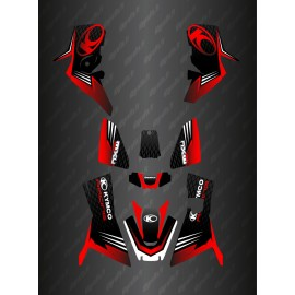 - Deko-Kit Slant edition Full (Rot) - Kymco 700 MXU (nach 2019)-idgrafix